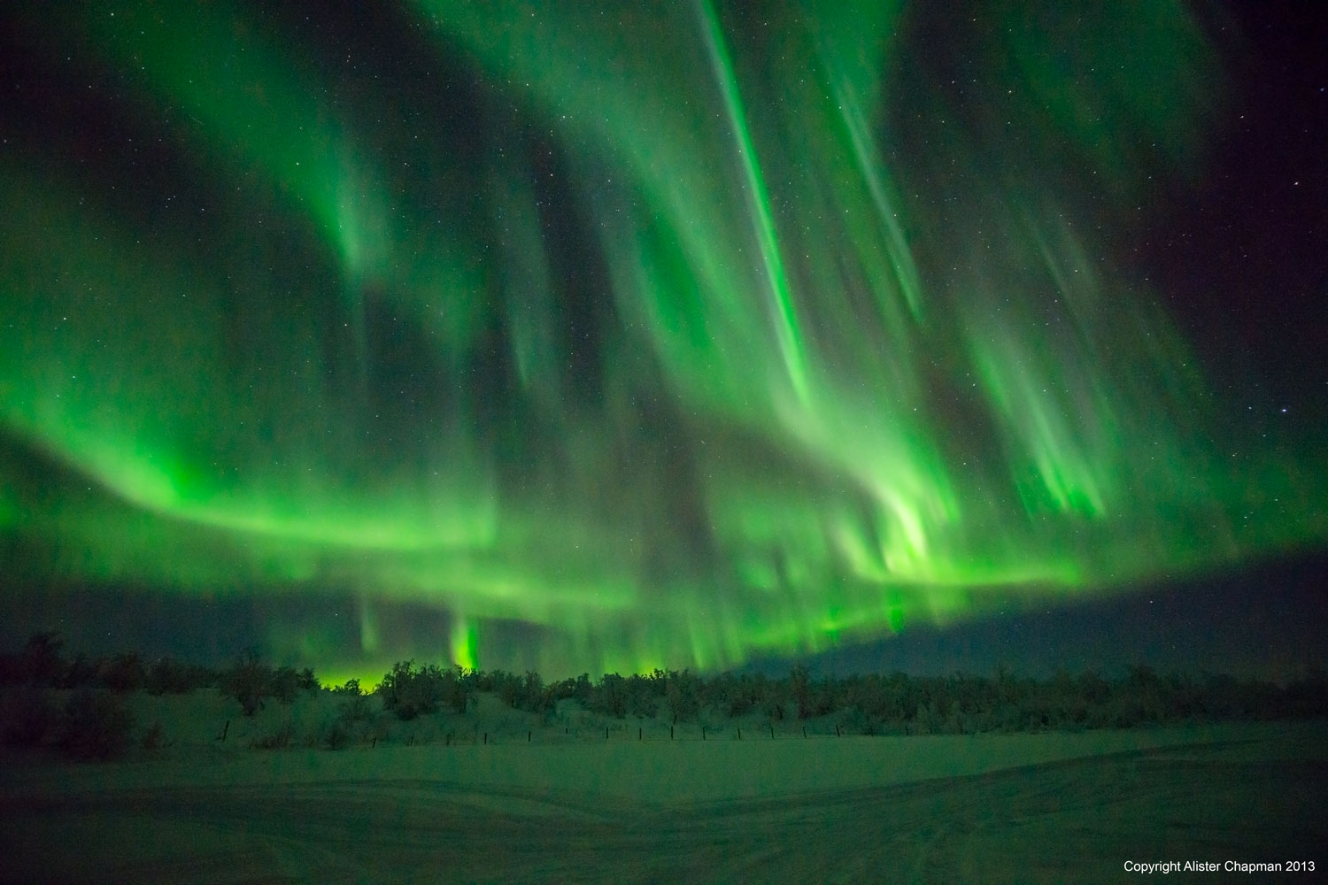 The Aurora fills the sky. Tour 2, 2013.