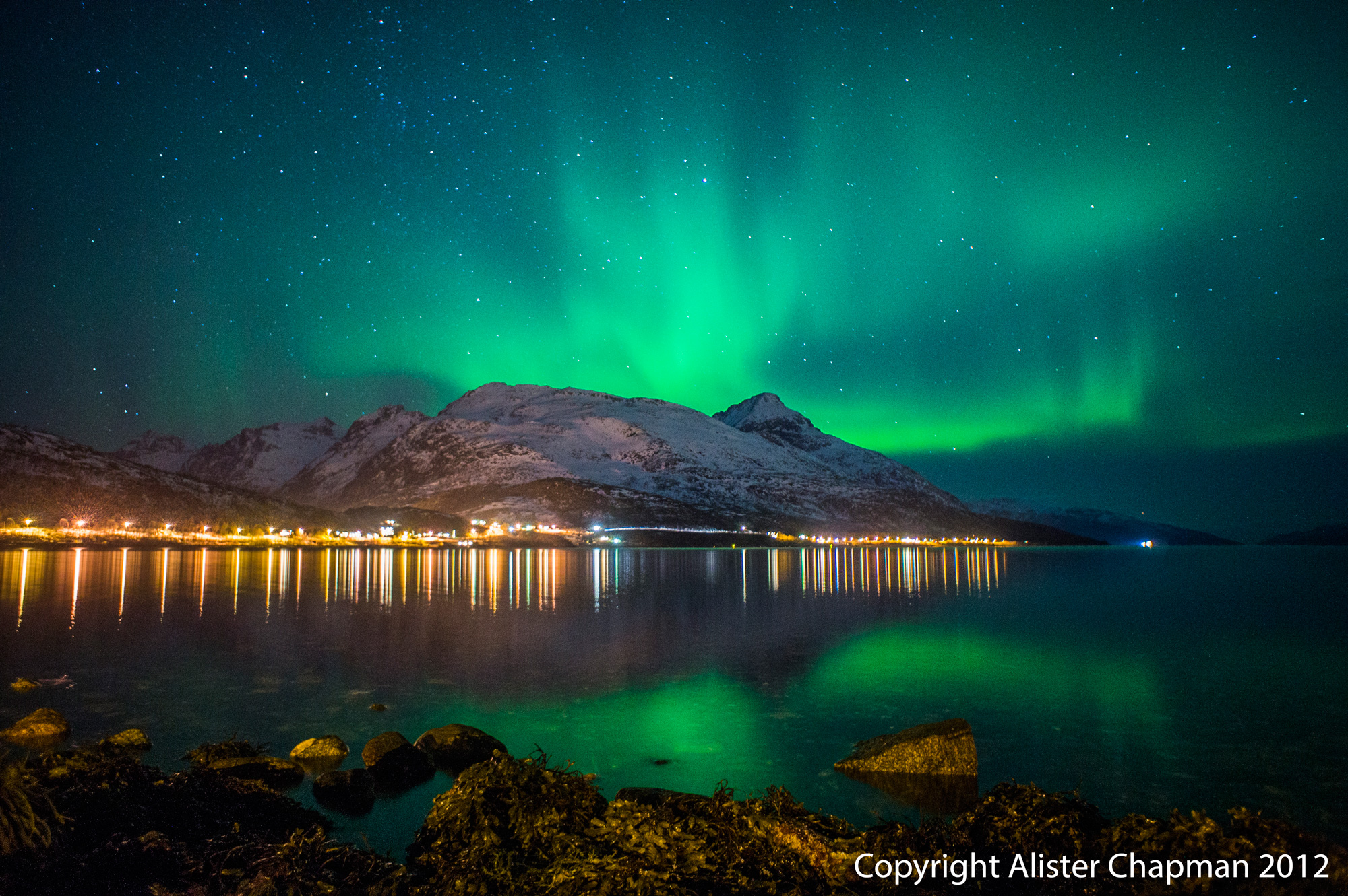 I love this picture from Tromso. We go to this location on the first night of the tour.